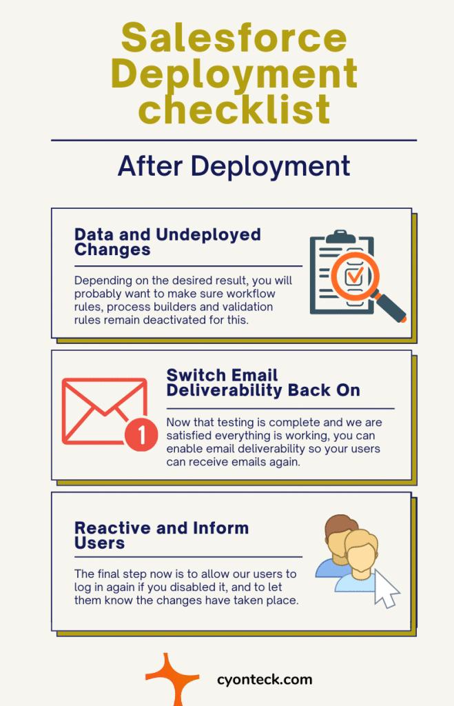 Salesforce deployment checklist after deployment