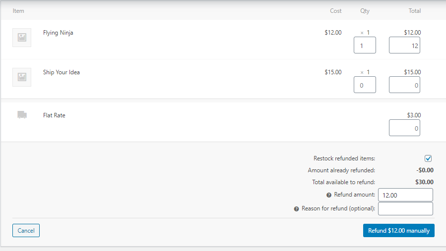 handle the refund and replace process in WooCommerce