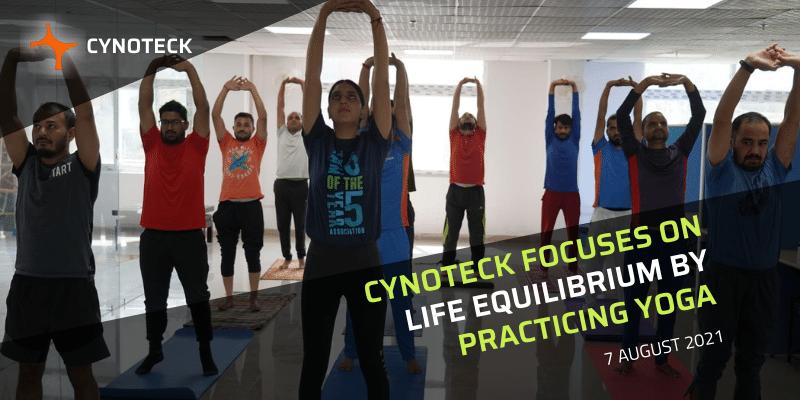 Yoga practice at cynoteck