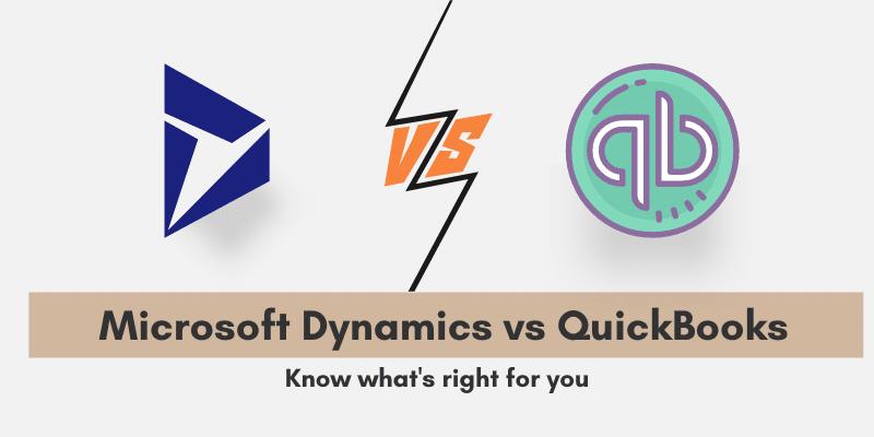 Microsoft Dynamics vs QuickBooks