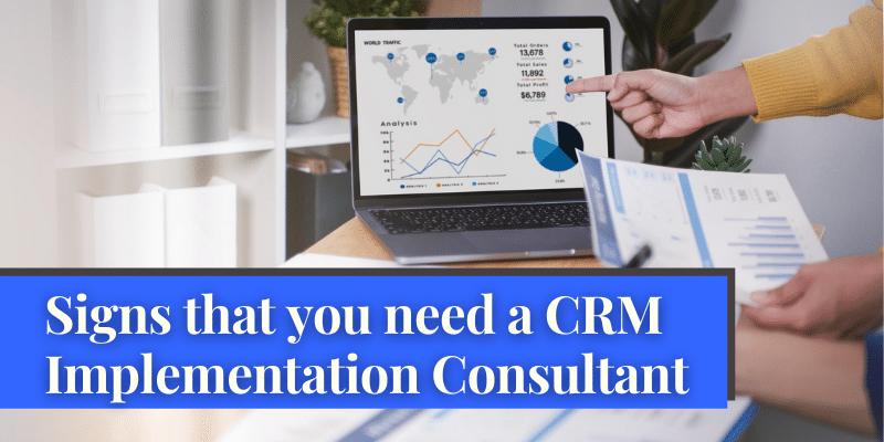 CRM implementation consultant